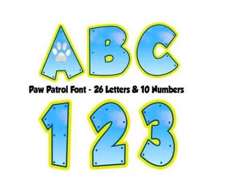 Paw Patrol Font download free