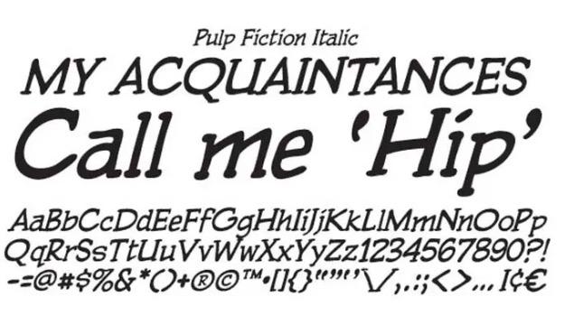 download Pulp Fiction Font