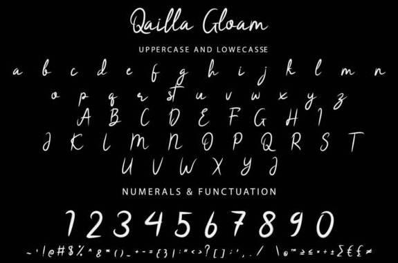 Qailla Gloam Font free