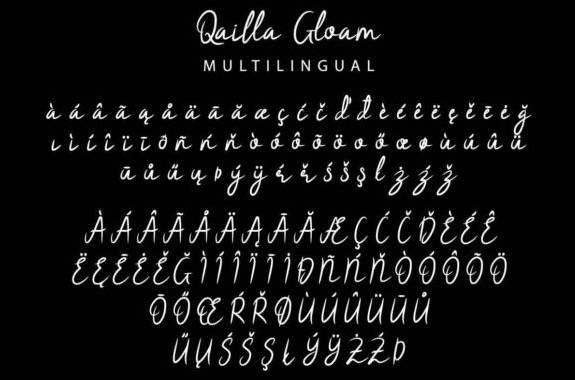 Qailla Gloam Font download free