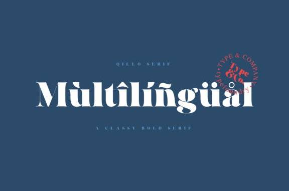 Qillo Serif Font free