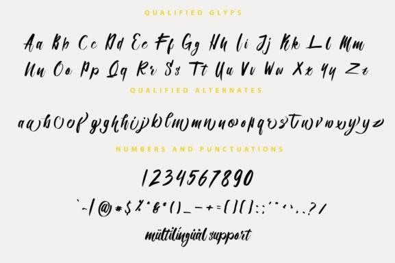 Qualified Script Font free