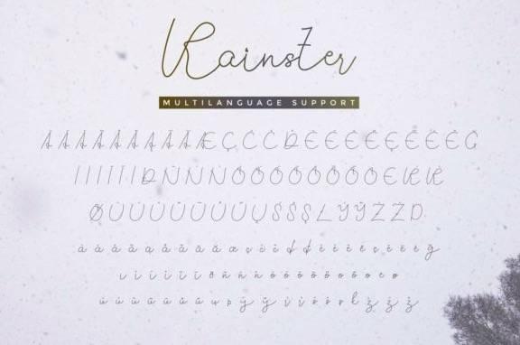Rainster Monoline Font download