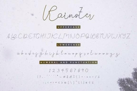 free Rainster Monoline Font