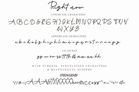 free Right Now Monoline Font