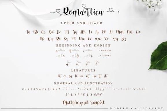 Romantica Modern Handwritten Font download
