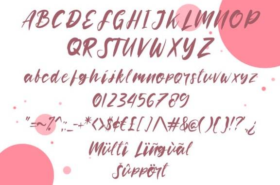 Rooselyn Brush Font free