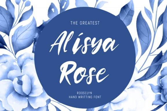 free Rooselyn Brush Font