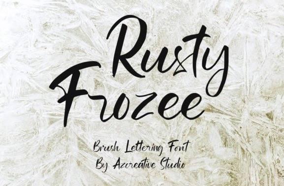 Rusty Frozee Script Font
