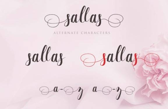 Sallas Calligraphy Font download