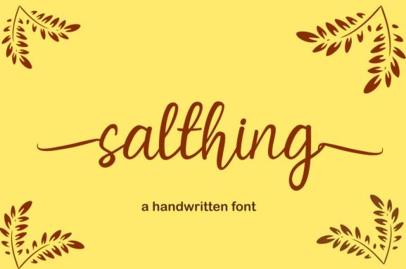 Salthing Modern Script Font