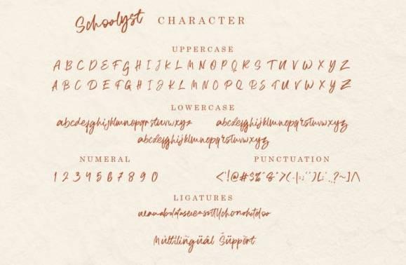 Schoolyst Font free