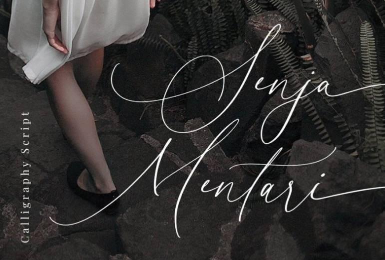 Senja Mentari Modern Calligraphy Font download