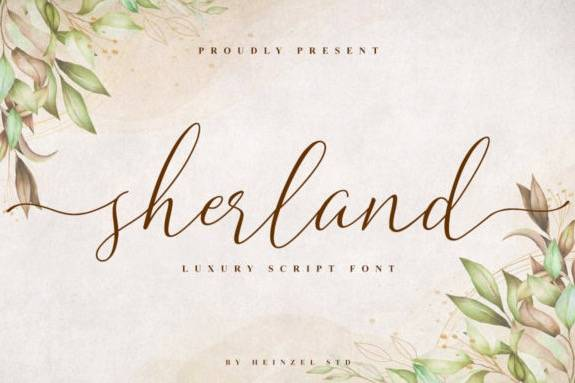 Sherland Luxury Script Font