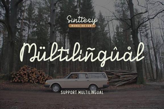 Sinttesy Monoline Font free