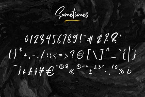 free Sometimes Signature Font download