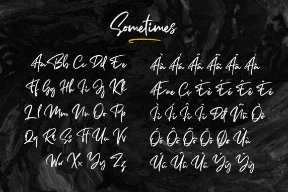 download Sometimes Signature Font