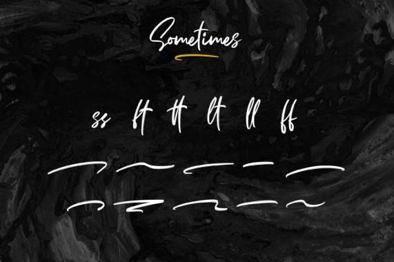 Sometimes Signature Font downoad free