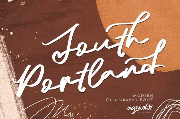 South Portland Signature Font