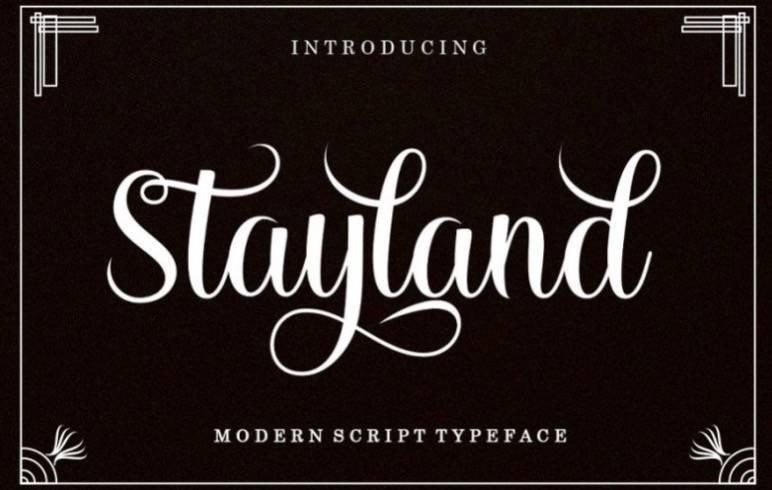 Stayland Handwritten Font