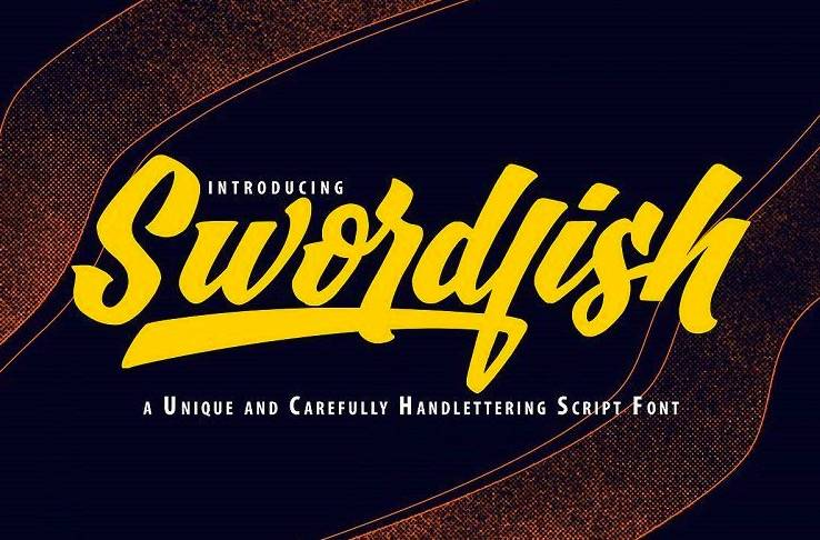 SwordFish Unique Handwritten Font
