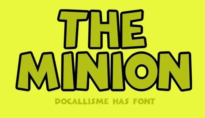 The Minion Font Family