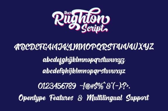 free The Rughton Script Font