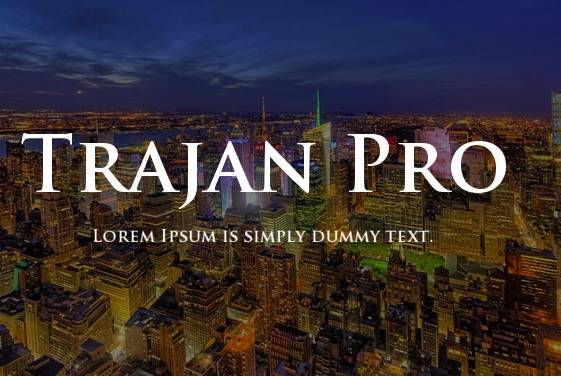 Trajan Pro 3 Font download