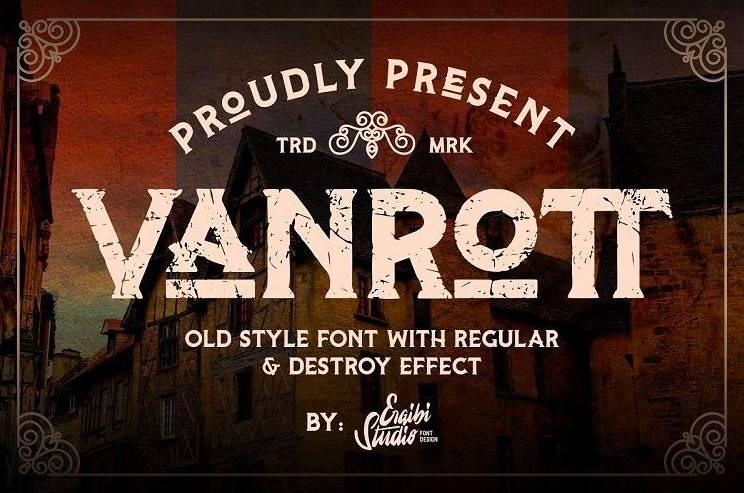 Vanrott Serif Font download