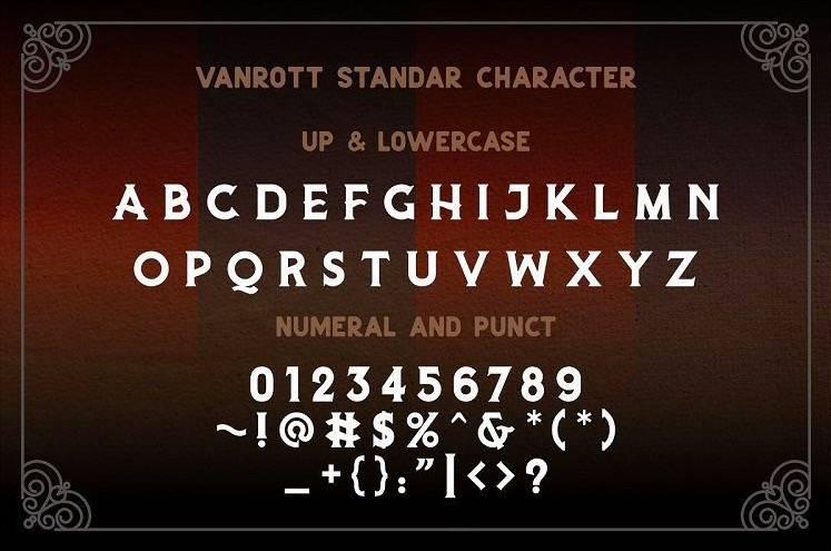 Vanrott Serif Font