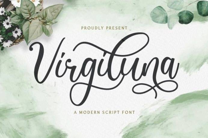 Virgiluna Calligraphy Font