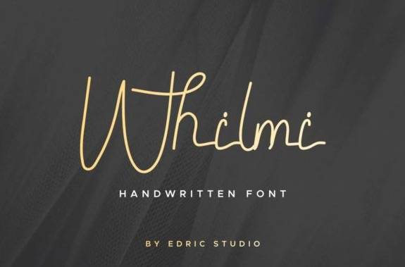 Whilmi Monoline Font free
