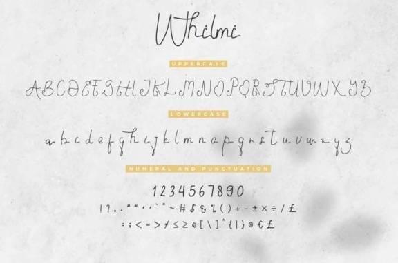 Whilmi Monoline Font download