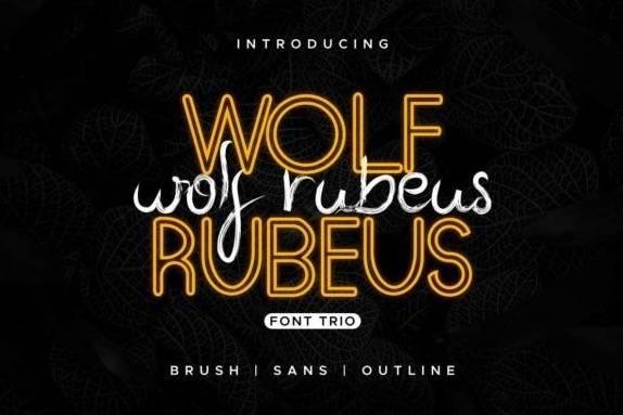 Wolf Rubeus Script Font