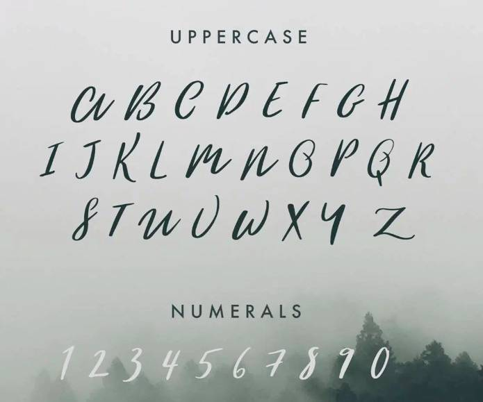 free Woodlands Font download