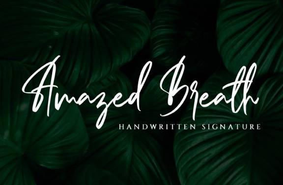 Amazed Breath Handwritten Font