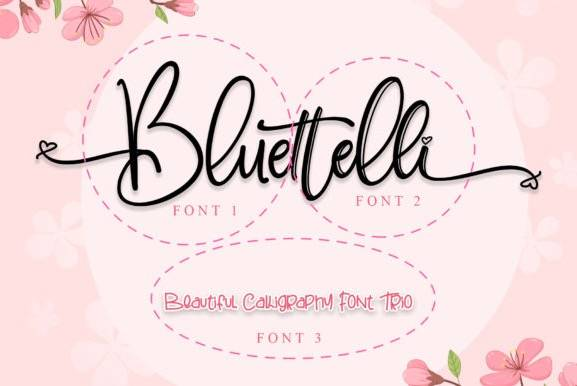 Bluettelli Calligraphy Font free