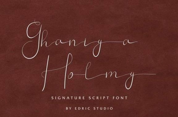 Ghaniya Holmy Handwritten Font