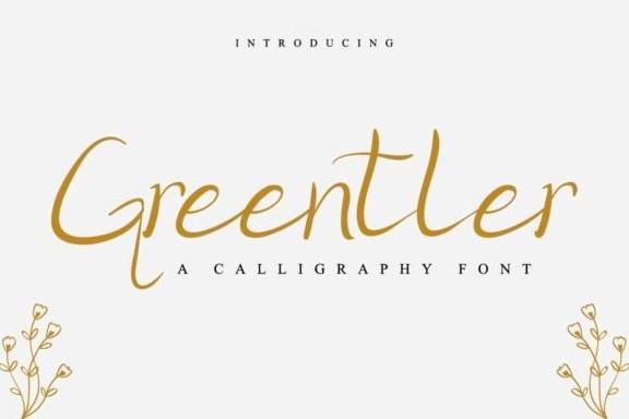 Greentler Handwritten Font
