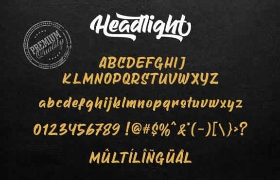 Headlight Brush Font