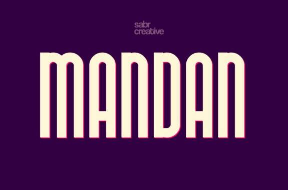 Mandan display font