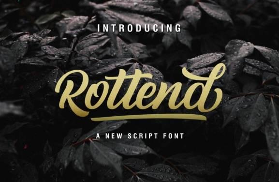 Rottend Script Font
