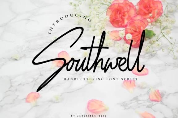 Southwell Signature Font