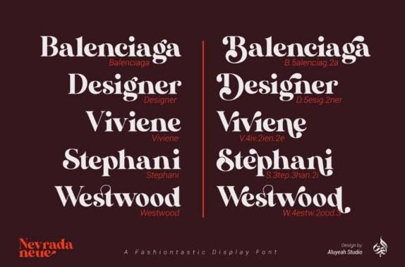 AL Nevrada Neue Display Font free download
