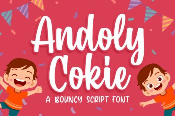 Andoly Cokie Handwritten Font