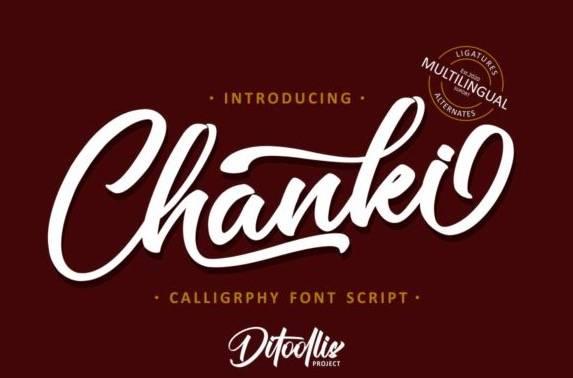 Chanki Calligraphy Font