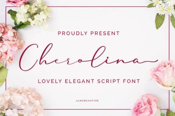 Cherolina Lovely Elegant Handwritten Font