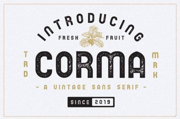 Corma Sans Serif Font