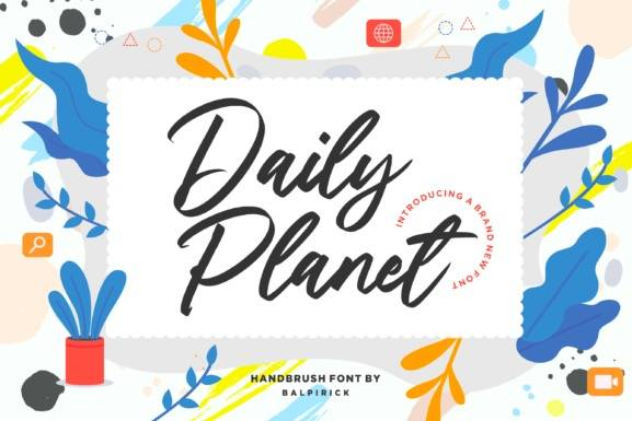 Daily Planet Brush Font