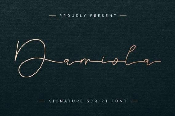 Damiola Handwritten font